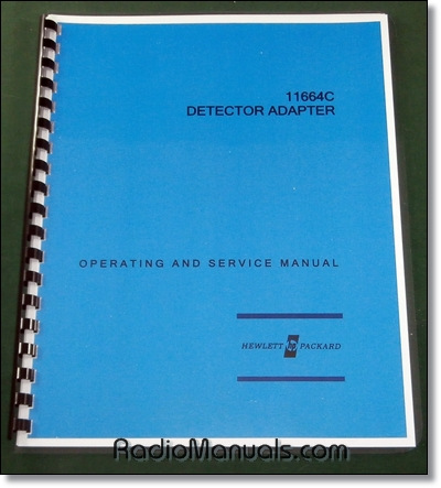HP 11664C Operation & Service Manual