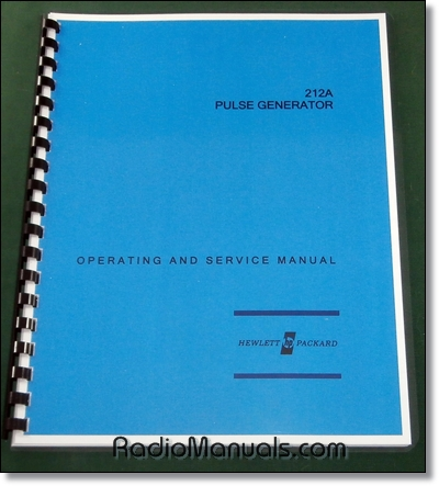 HP 212A Operating & Instruction Manual