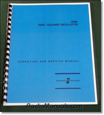 HP 209A Operating & Service Manual