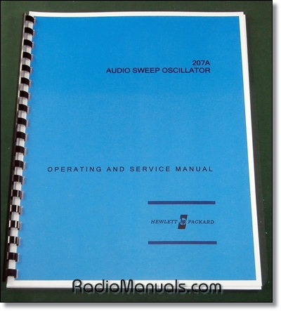 HP 207A Operating & Service Manual