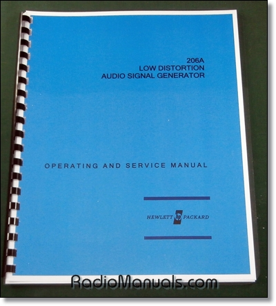 HP 206A Operating & Service Manual