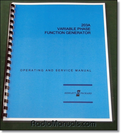HP 203A Operating & Service Manual