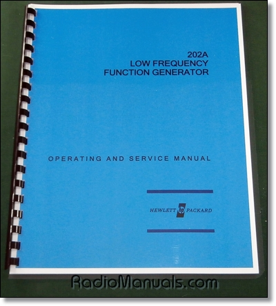 HP 202A Operating & Service Manual
