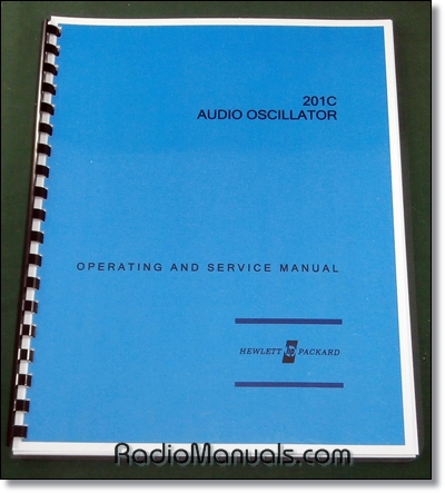 HP 201C Operating & Service Manual