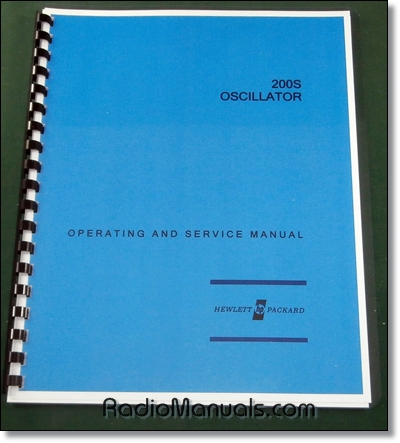 HP 200S Operating & Instruction Manual