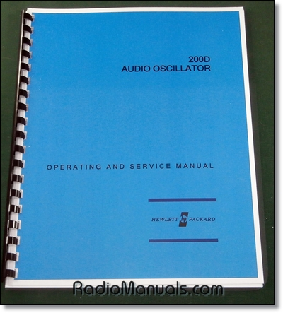 HP 200D Operating & Instruction Manual