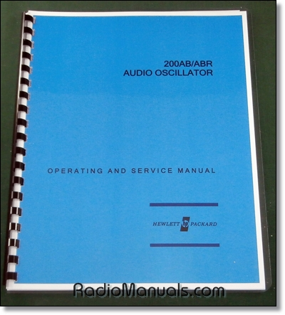 HP 200AB & HP200ABR Operating & Service Manual