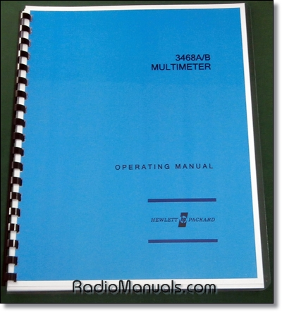 HP 3468A/B Operating Manual