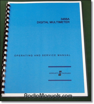 HP 3466A Operating & Service Manual