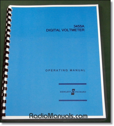 HP 3455A Operating Manual