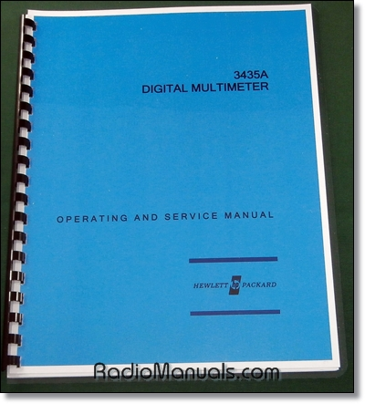 HP 3435A Operating and Service Manual