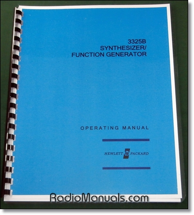 HP 3325B Operating Manual