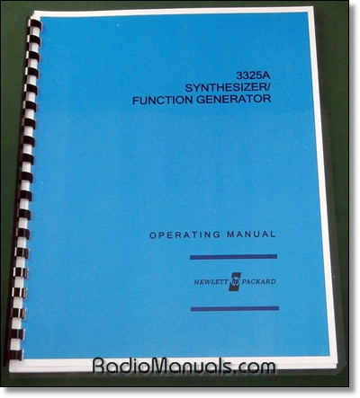 HP 3325A Operating Manual