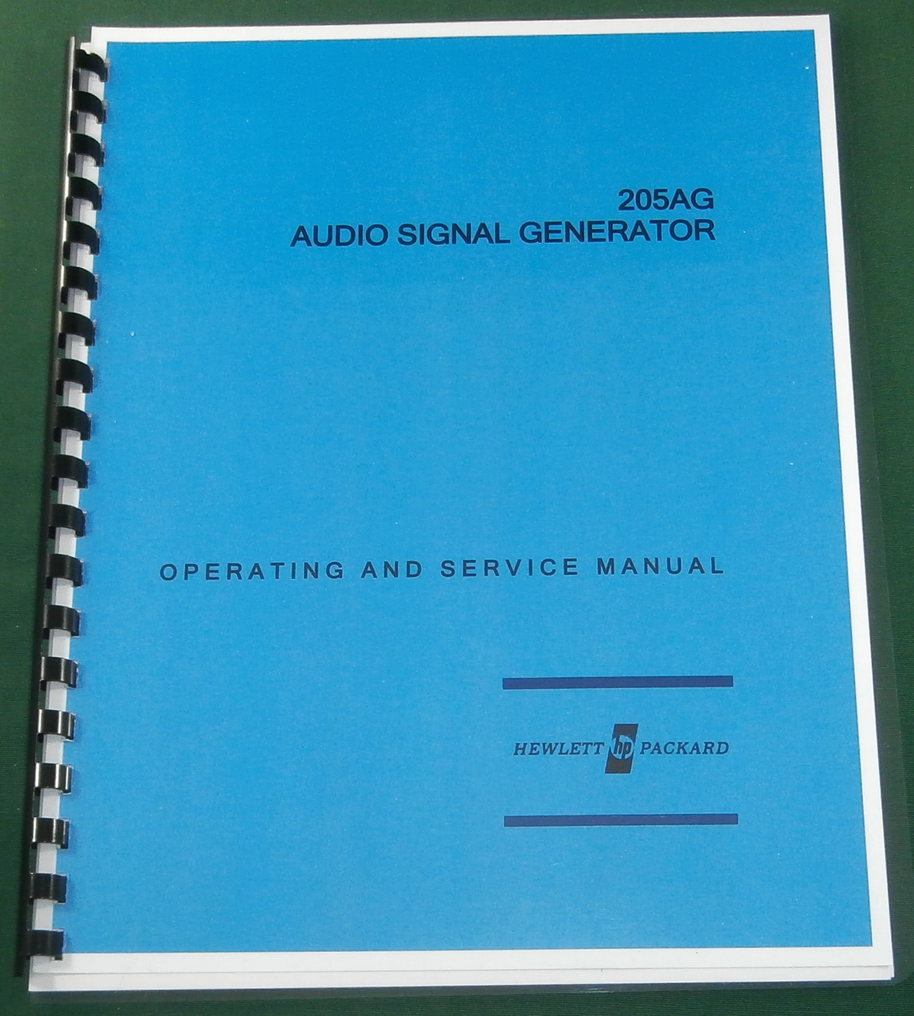 HP 205AG Operating & Service Manual