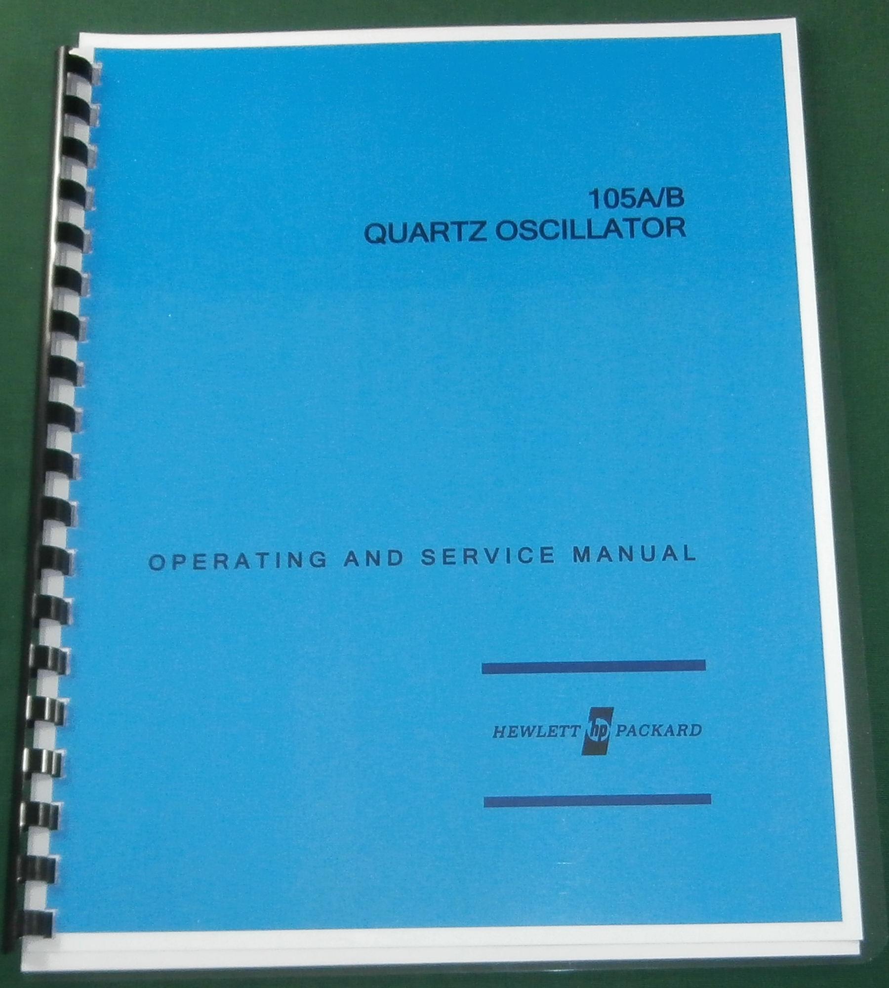 HP 105A & 105B Operating & Service Manual