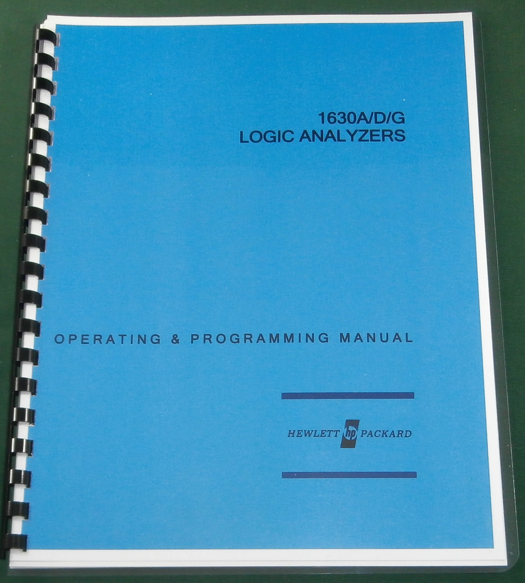 HP 1630A/D/G Operating & Programming Manual
