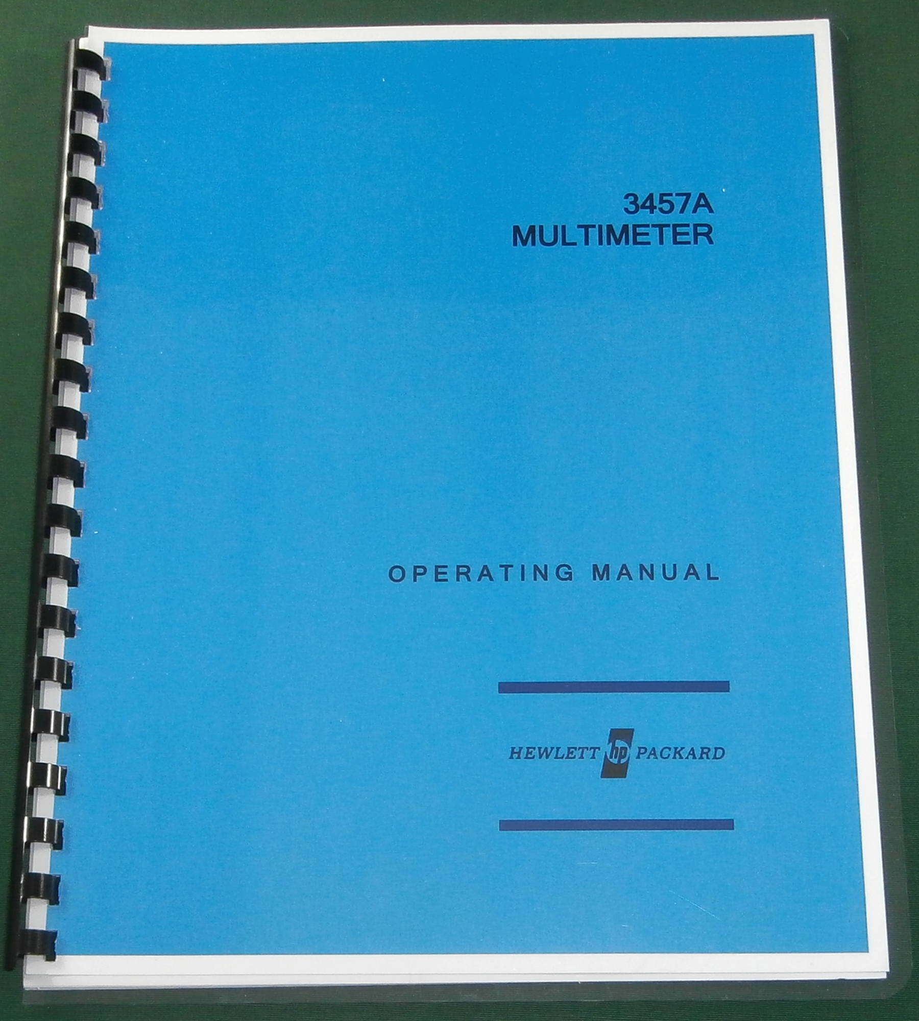 HP 3457A Operating Manual