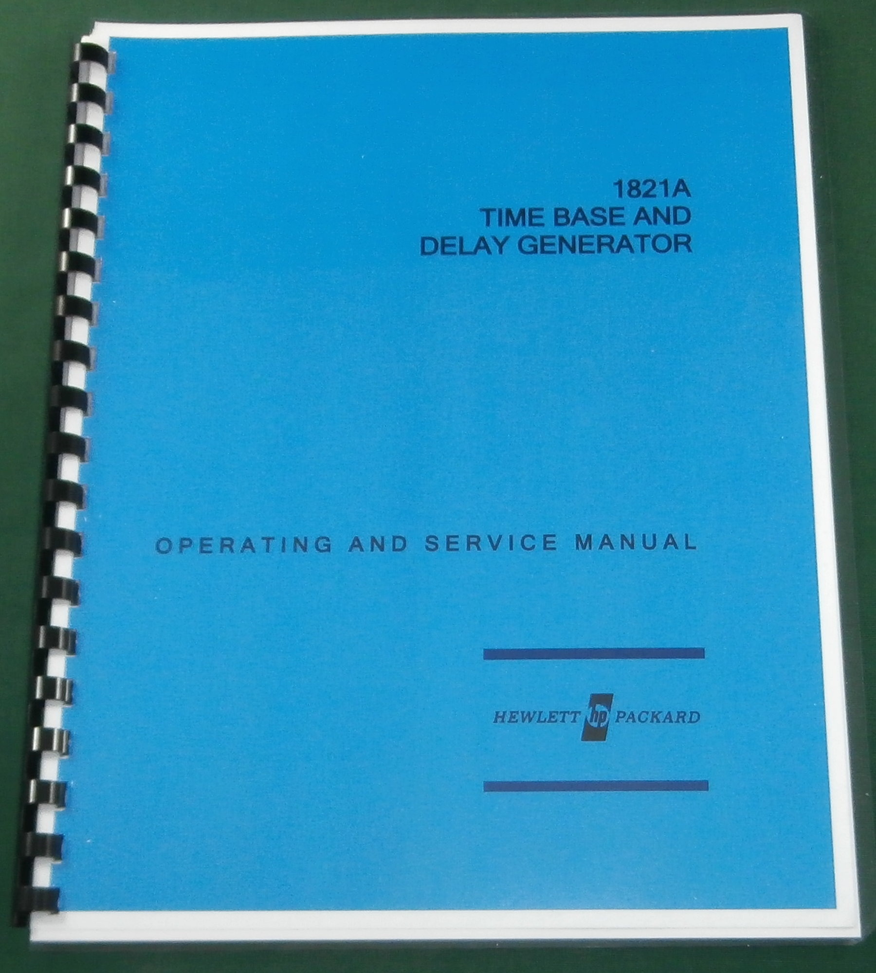 HP 1821A Operating and Service Manual