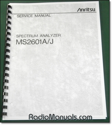 Anritsu MS2601A/J Service Manual
