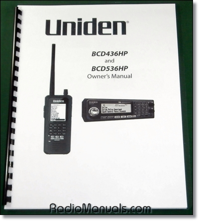 Uniden BCD436HP / BCD536HP Instruction Manual