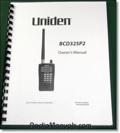 Uniden BCD325P2 Instruction Manual