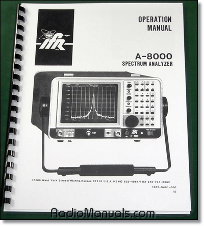 IFR A-8000 Operations Manual