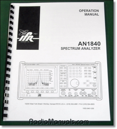 IFR AN1840 Operations Manual
