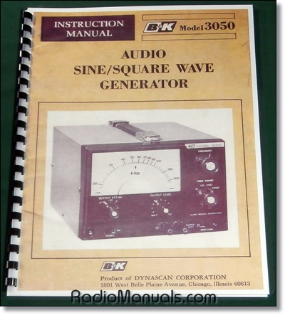 B&K 3050 Sine Wave Generator Manual