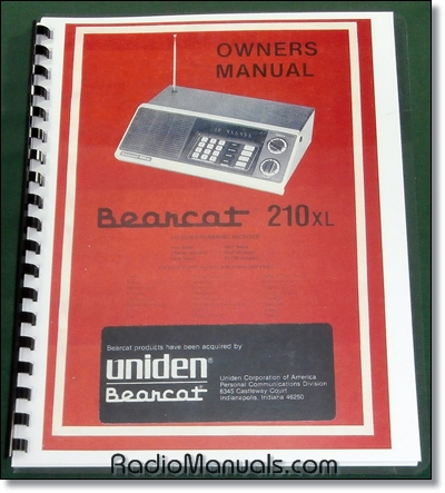 Uniden Bearcat 210XL Instruction Manual