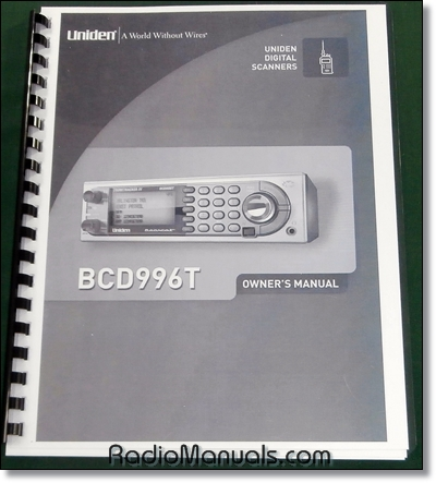Uniden BCD996T Instruction Manual