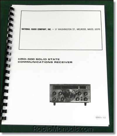 National HRO-500 Instruction Manual