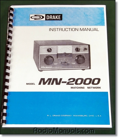 Drake MN-2000 Instruction Manual