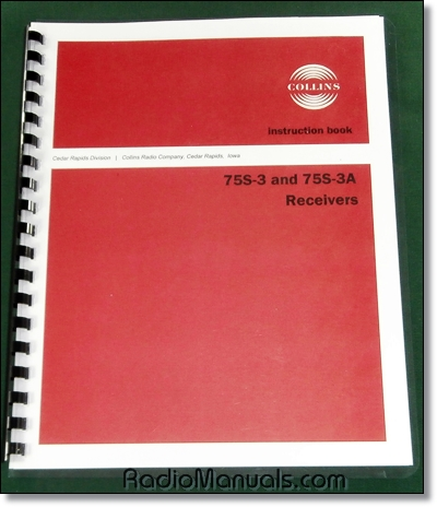 Collins 75S-3 75S-3A Instruction Manual