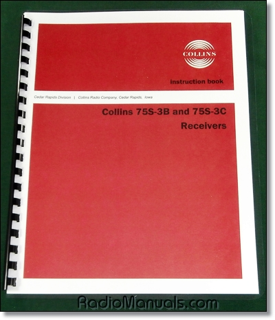 Collins 75S-3B 75S-3C Instruction manual