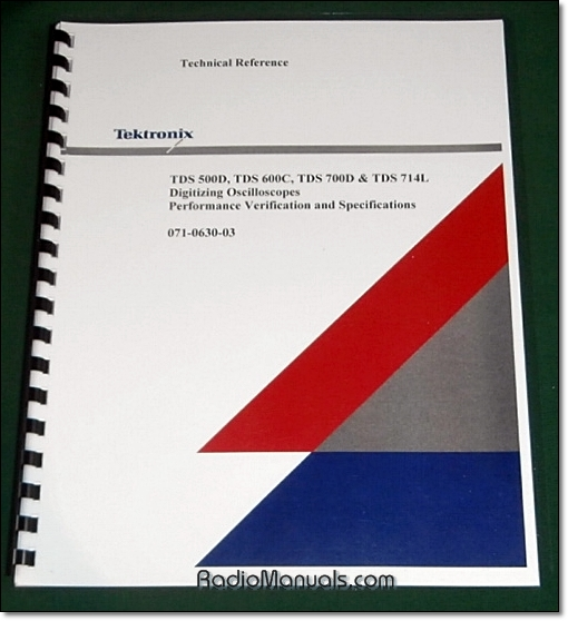 Tektronix TDS 500D, 600C, 700D, TDS 714L Technical Reference Manual
