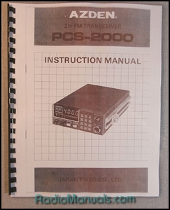 Azden PCS-2000 Instruction Manual