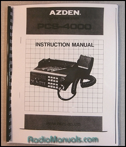 AZDEN PCS-4000 Instruction Manual
