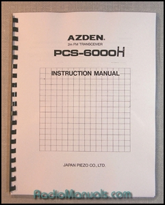 AZDEN PCS-6000H Instruction Manual