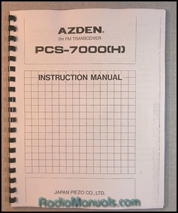 AZDEN PCS-7000H Instruction Manual