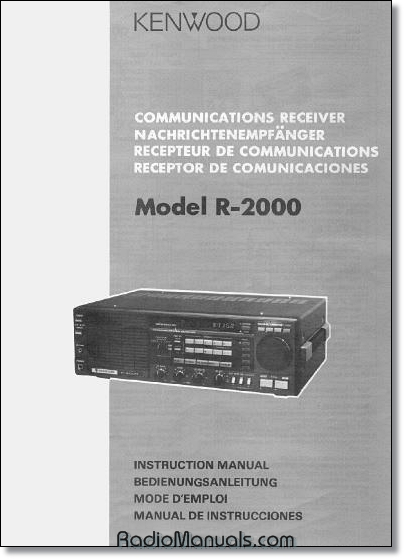 Kenwood R-2000 Instruction Manual