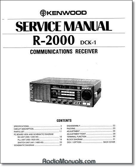 Kenwood R-2000 Service Manual
