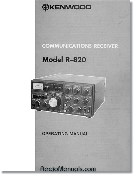 Kenwood R-820 Instruction Manual