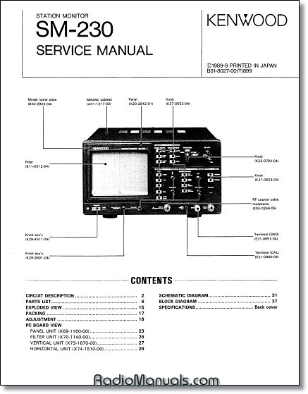 Kenwood SM-230 Service Manual