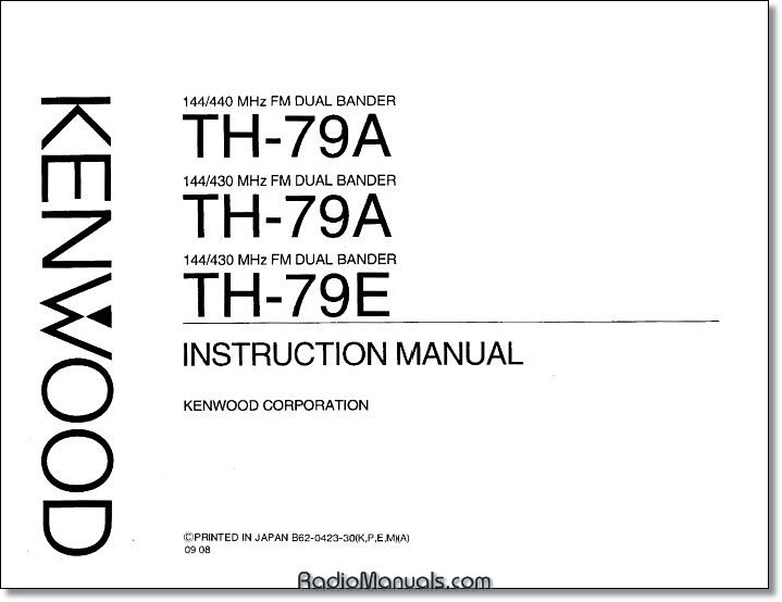 Kenwood TH-79A/E Instruction Manual