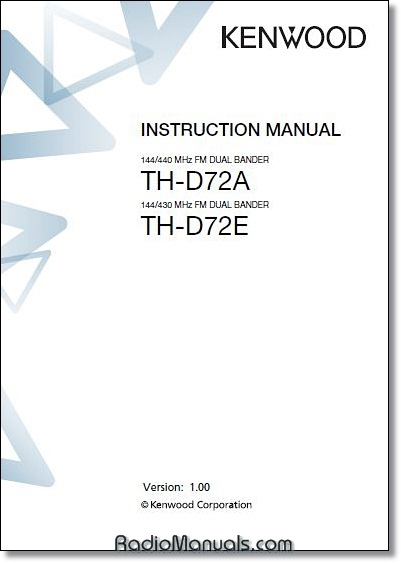 Kenwood TH-D72A/E Instruction Manual
