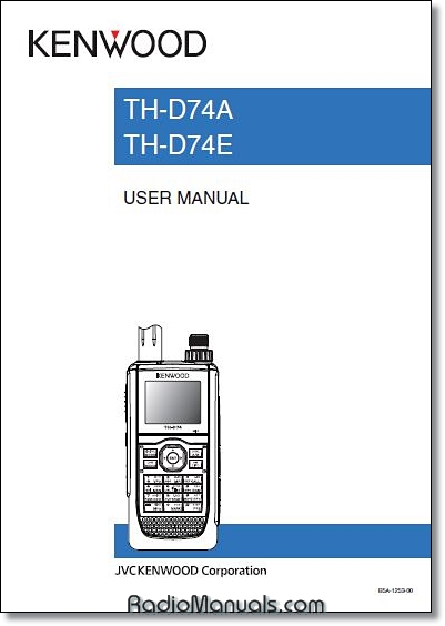 Kenwood TH-D74A/E Instruction Manual