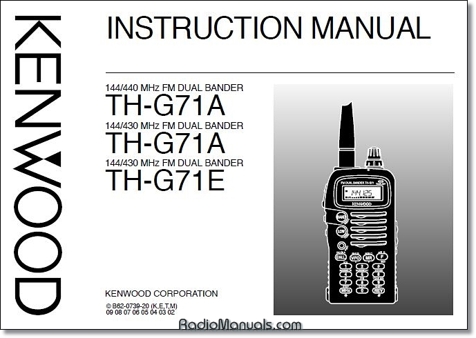 Kenwood TH-G71A/E Instruction Manual