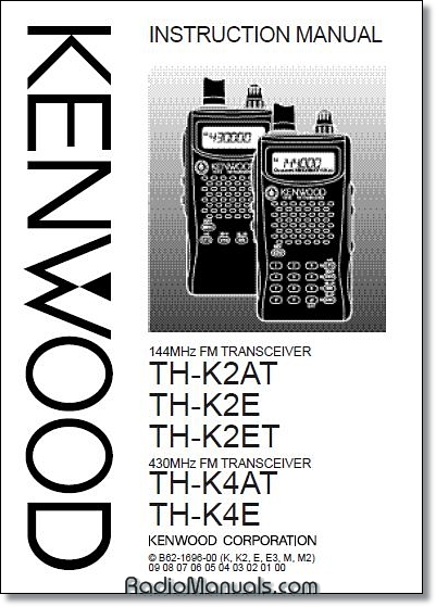Kenwood TH-K2AT, TH-K4AT Instruction Manual