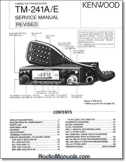 Kenwood TM-241 Service Manual