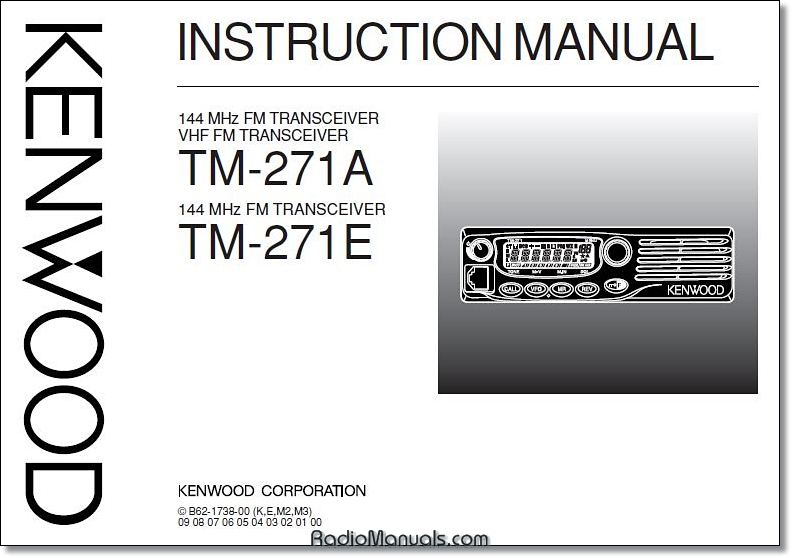 Kenwood TM-271A/E Instruction Manual